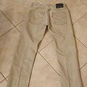 Levi 511 16 slim khaki jeans
